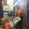 Before stepping out for our Market Outreach, WOCON paid a Courtesy Cal on the Iyaloja of Oyingbo Market and presented her with some of the IEC materials (Posters etc.)